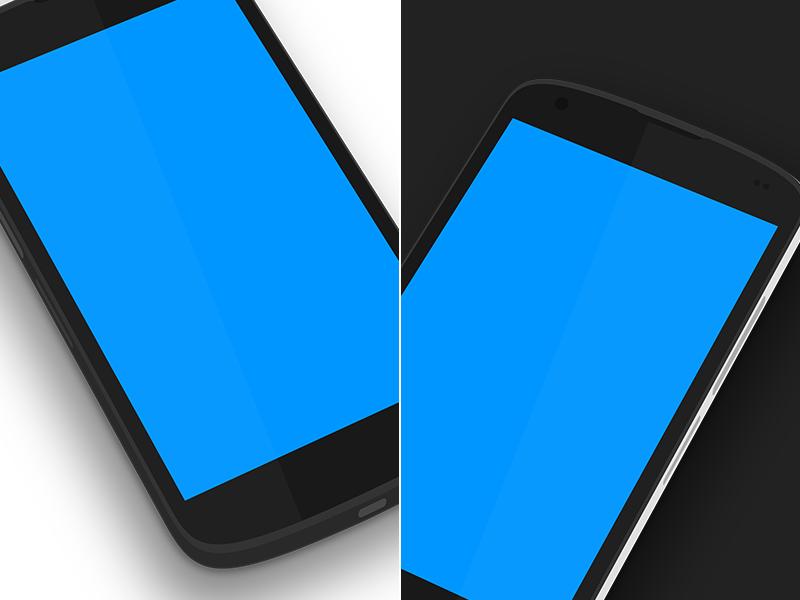Nexus 4 Minimal 3D [.PSD]