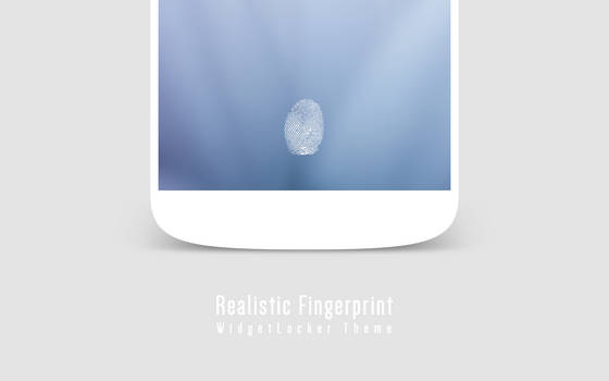 Realistic Fingerprint WidgetLocker Theme