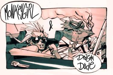 MONKEY GIRL and DRAGON DUDE by Balak01