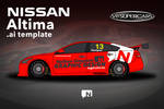 Nissan Altima V8 Supercar .AI template by nathansimpson
