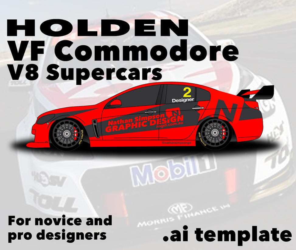 Holden Car Wallpaper: Holden Commodore VF V8 Supercar Template By Nathansimpson