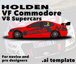 Holden Commodore VF V8 Supercar template by nathansimpson