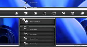 Black Blue n'Chrome PS3 Theme