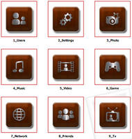 PS3 Homerow Iconset Wooden B by EffECKTz