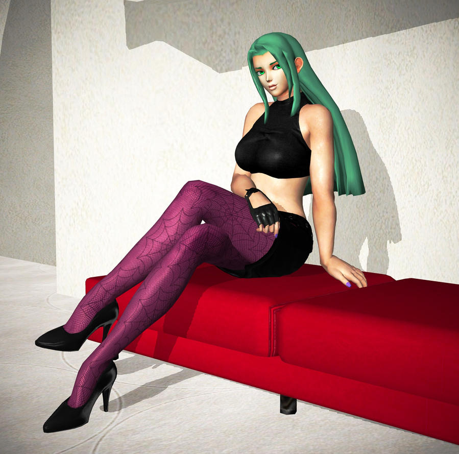 Morrigan Aensland (Night Club outfit) by RyuAensland