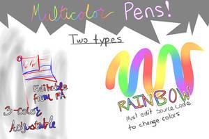 MultiColor Pens for FireAlpaca/MediBang Paint!!