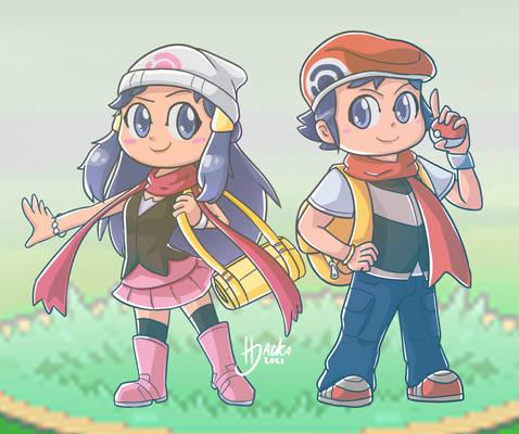 Pokemon - Chibi Dawn and Lucas