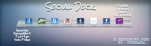 Social Dock - Rainmeter Skin