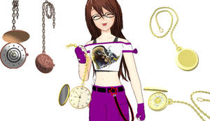 [MMD] Pocket Watches DL by OniMau619