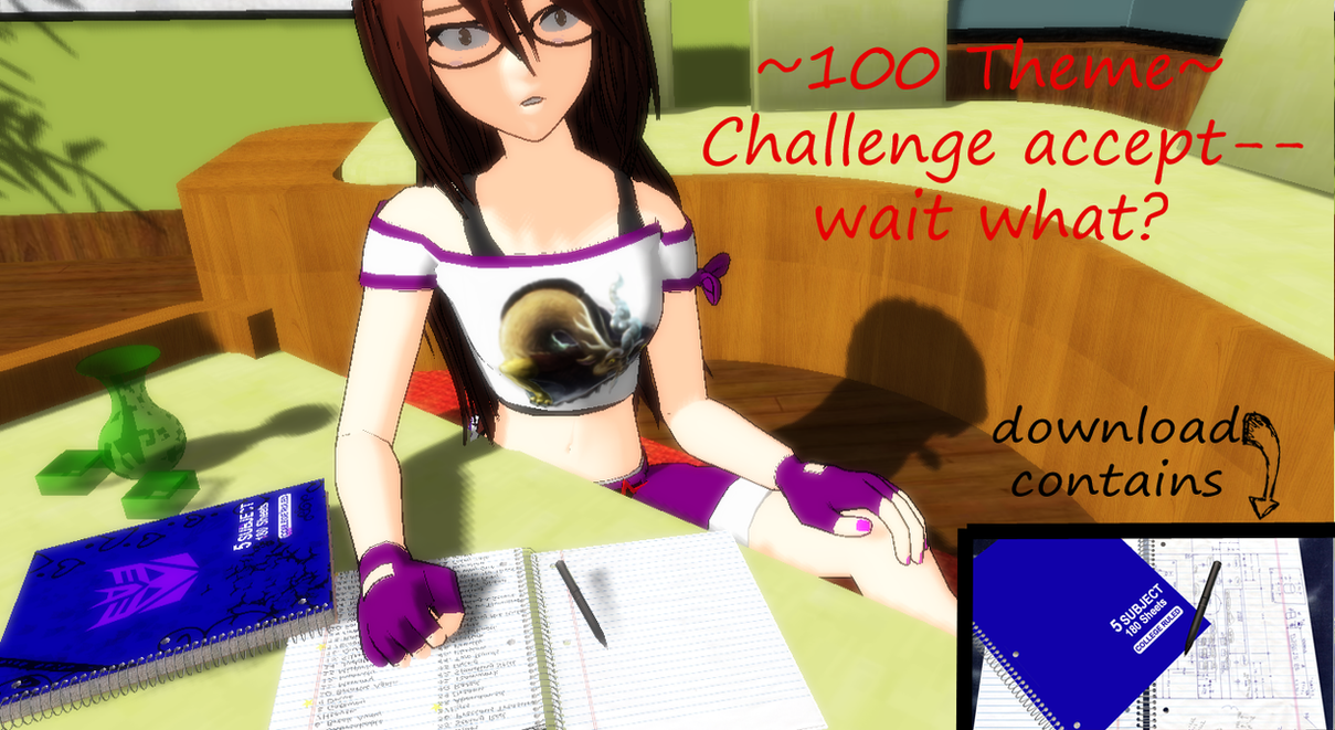 [MMD] Notebook and Livescribe Pen DL by OniMau619