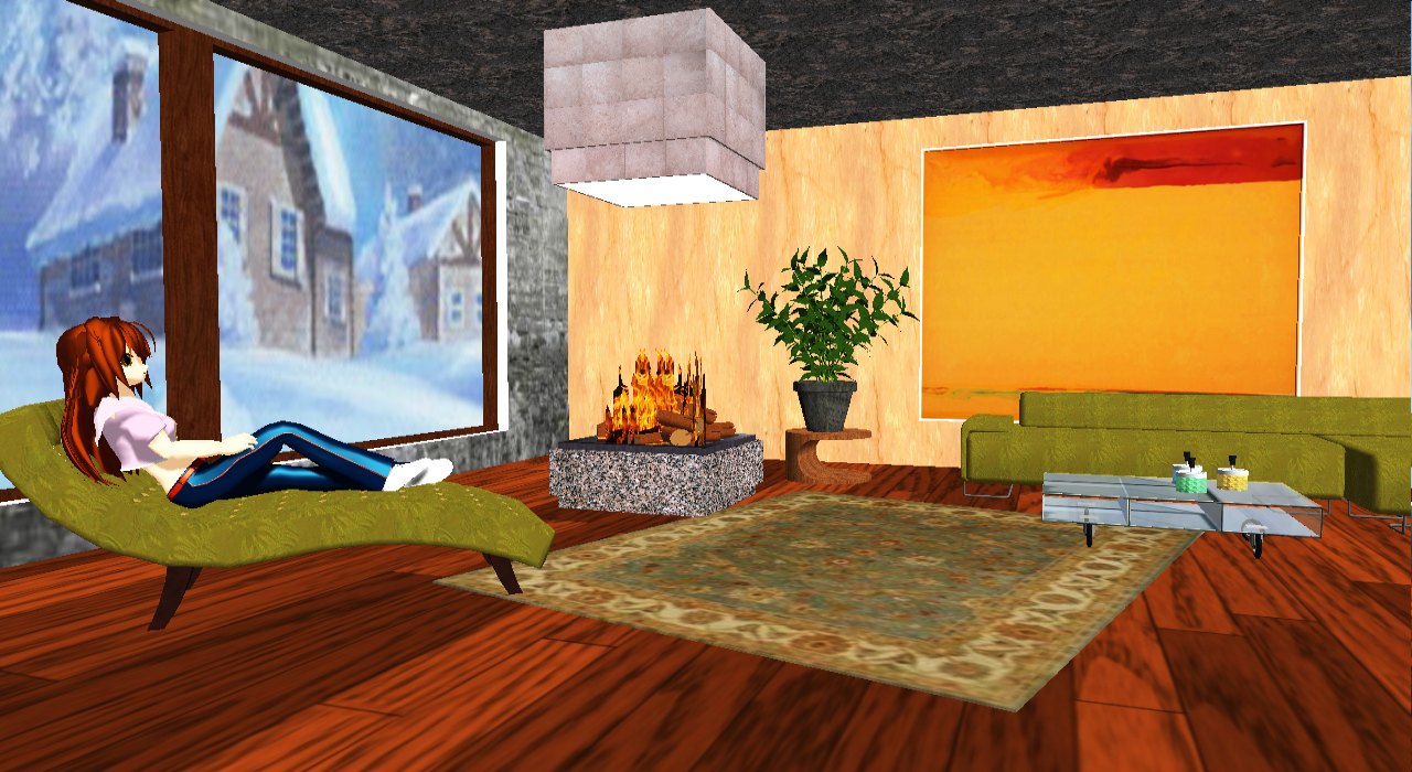 Mmd Deep In Thought Modern Living Room Dl By Onimau619 On Deviantart