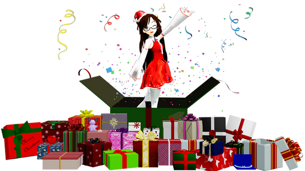 [MMD] 25 Presents Pack DL by OniMau619