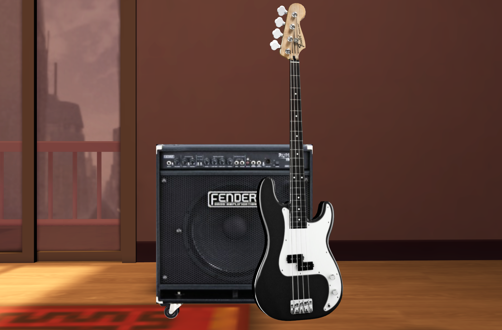mmd bass guitar and amp dl by onimau619 on deviantart. Black Bedroom Furniture Sets. Home Design Ideas
