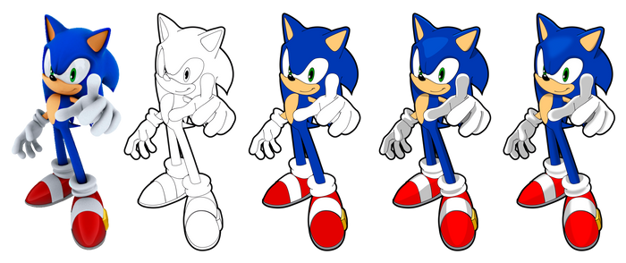 Sonic Vector Drawing