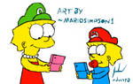 Lisa and Maggie playing by MarioSimpson1 by Juliannb4