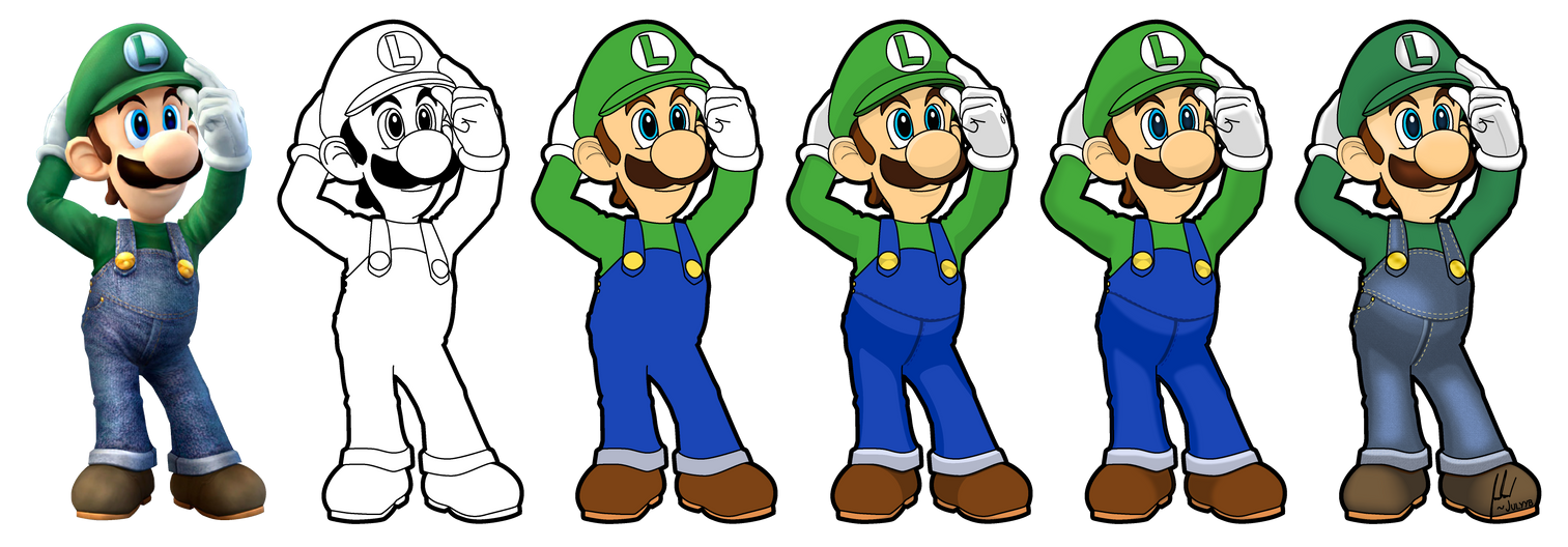 Luigi Vector Drawing by Juliannb4