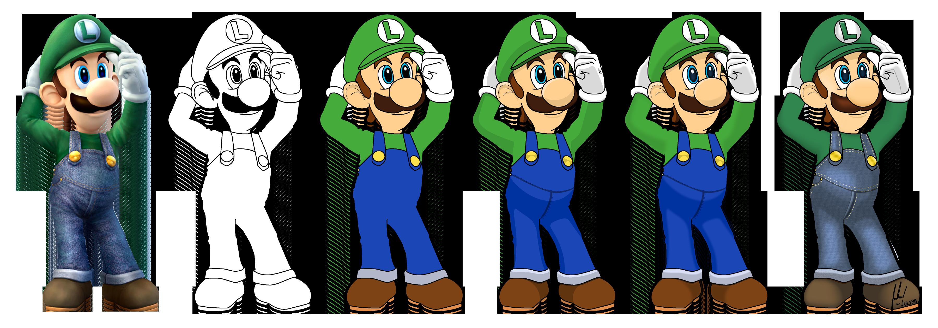 Luigi Vector Drawing by Juliannb4
