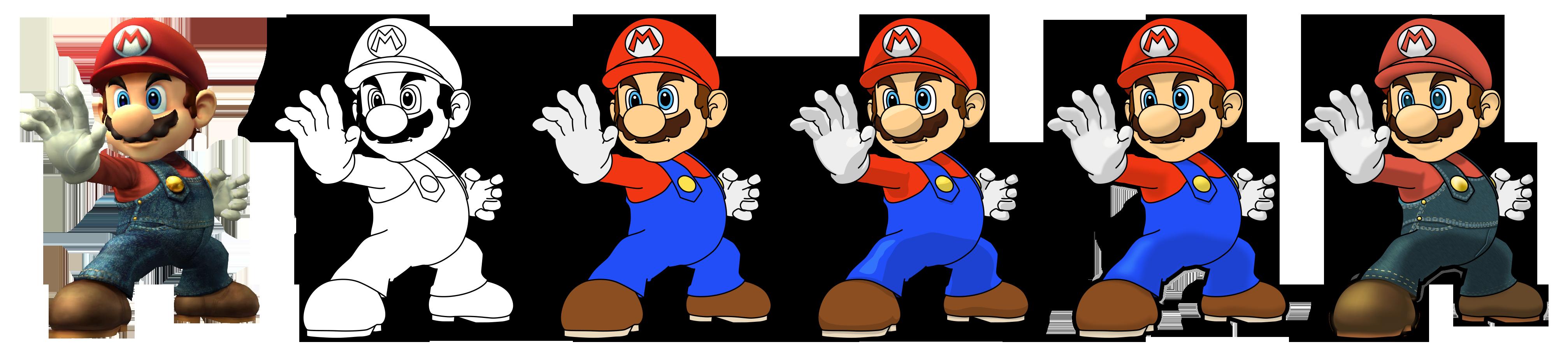 How To Draw Mario Ssbb