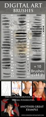 Digital Painting brushes by epifaniaz