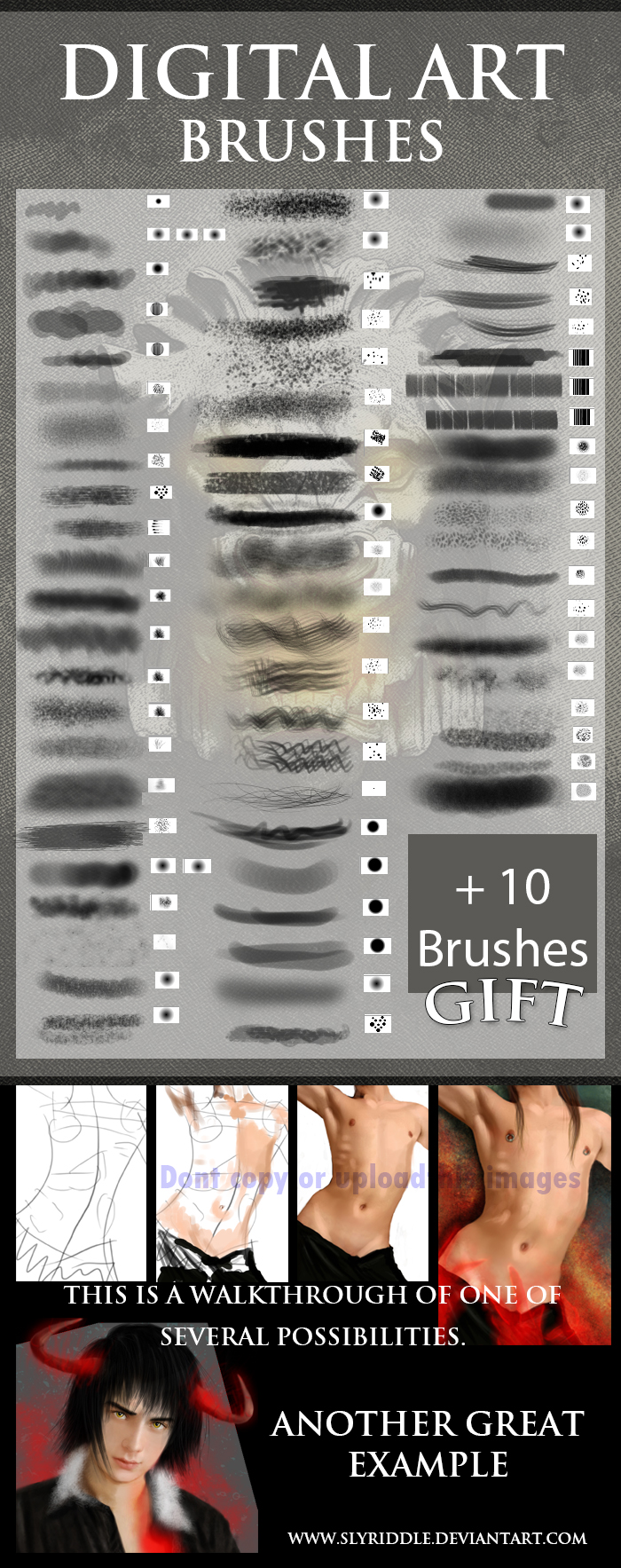 Digital Painting brushes by chevalion