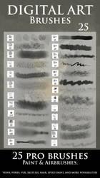 Airbrush and digital Paint brushes by epifaniaz
