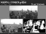 photo into comic manga background halftones action