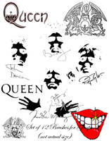 Queen Brushes for GIMP by MabMeddowsMercury