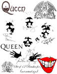 Queen Brushes for GIMP