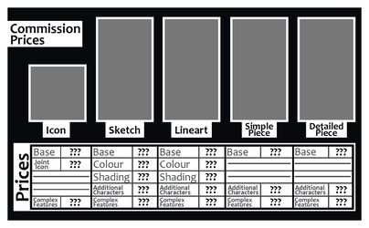 FREE Commission Prices TEMPLATE