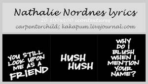 Nathalie Nordnes Lyrics -Kakapum@lj