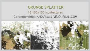 Grunge Splatter - 100x100 textures