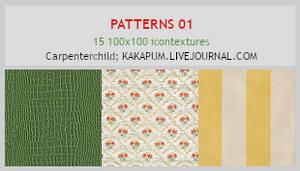 Patterns 1 -100x100 icontextures - Kakapum@lj