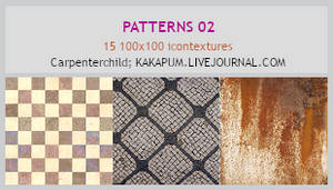Patterns 2 - 100x100 icontextures - Kakapum@lj