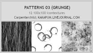 Patterns 03 - 100x100icontextures (Kakapum@lj) by shiruji