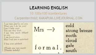 Learning English - 100x100icontextures (Kakapum@lj by shiruji