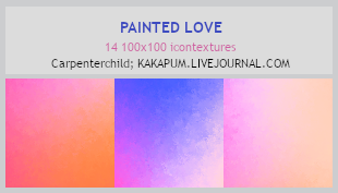 PaintedLove - 100x100 icontextures (Kakapum@lj) by shiruji