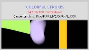 Colorful Strokes 100x100 icontextures (Kakapum@lj)