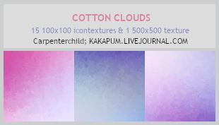 CottonClouds - 100x100icontextures (Kakapum@lj) by shiruji