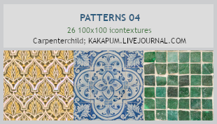 Patterns 04 - 100x100 icontextures (Kakapum@lj) by shiruji