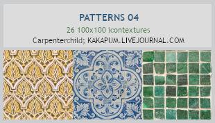 Patterns 04 - 100x100 icontextures (Kakapum@lj)