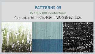 Patterns 05 - 100x100 icontextures (Kakapum@lj)