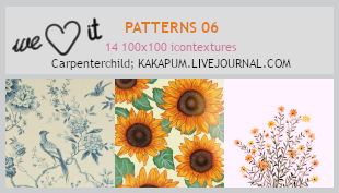 Patterns 06 - 100x100 icontextures (Kakapum@lj)