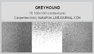 Greyhound - 100x100 textures (Kakapum@lj) by shiruji