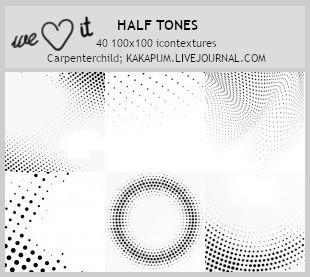 Half Tones -100x100icontextures (Kakapum@lj)