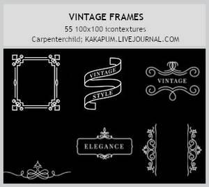 VIntage Frames -100x100icontextures (Kakapum@lj)