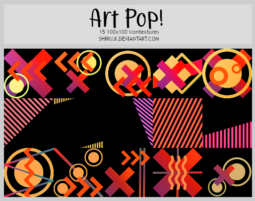 Art Pop! -1000x100icontextures
