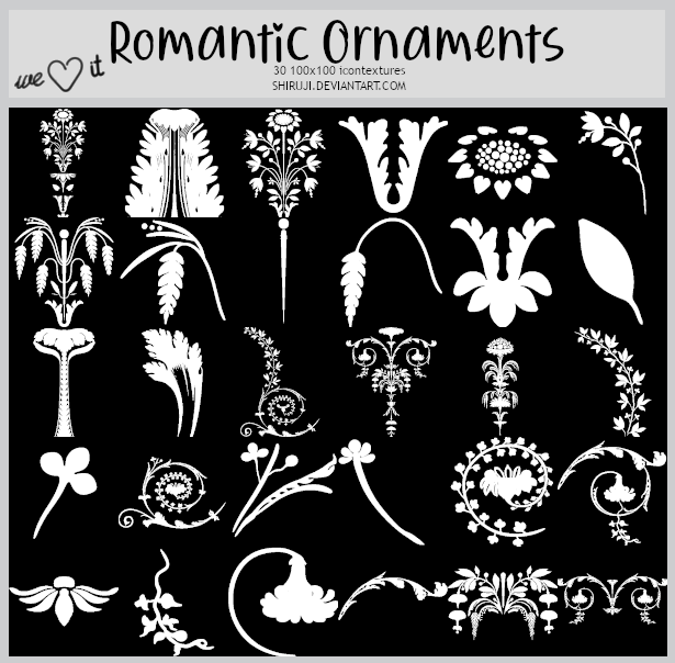 Romantic Ornaments -100x100icontextures
