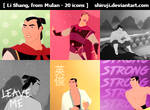 Li Shang from Mulan (icons)