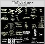 TEXT18 -Korean Pop 2 -100x100icontextures by shiruji