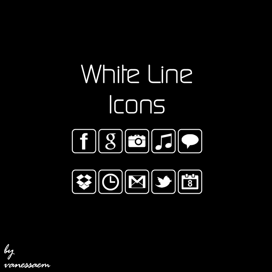 White Line Icons by vanessaem